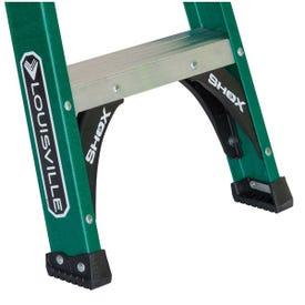 Louisville FS4006 Step Ladder, 124 in Max Reach H, 5-Step, 225 lb, Type II Duty Rating, 3 in D Step, Fiberglass