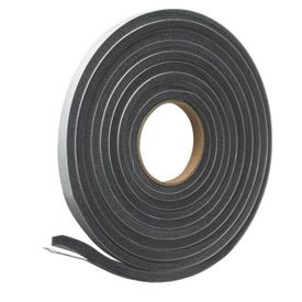 Frost King L346 Foam Tape, 3/4 in W, 17 ft L, 1/2 in Thick, Polyfoam, Charcoal