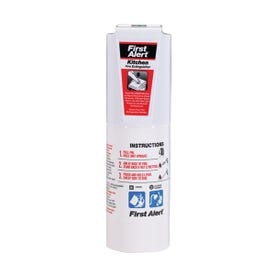 FIRST ALERT KITCHEN5 Fire Extinguisher, 1.4 lb Capacity, Sodium Bicarbonate, 5-B:C Class, Wall Mounting
