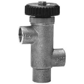 Watts LF70A-F Hot Water Extender Tempering Valve, Bronze Finish, Brass, For Domestic Water Supply Systems