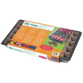 Jiffy TS50H Seed Starter Strip, 11 in L Tray, 22 in W Tray, 50 -Cell, Peat Moss
