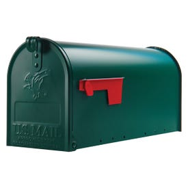 Gibraltar Mailboxes Elite E1100G00 Mailbox, 800 cu-in Capacity, Galvanized Steel, Powder-Coated, 6.9 in W, 8.9 in H