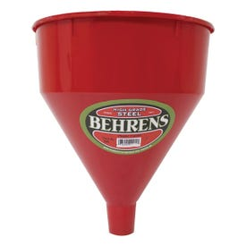 Behrens 66 Funnel, 5 qt Capacity, Plastic, Red, 10-1/2 in H
