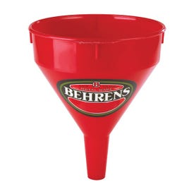 Behrens 112 Funnel, 1 pt Capacity, Plastic, Red