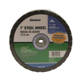 ARNOLD 490-321-0001 Tread Wheel, Steel, For: Lawnmowers and Golf Carts