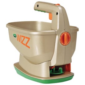 Scotts Wizz 71131 Spreader, 4AA Battery, 6.25 lb Capacity, 2500 sq-ft Coverage Area, 5 ft W Spread, Plastic