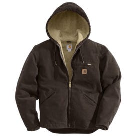 Carhartt J141-201REGXLA Sierra Jacket, XL, Dark Brown, Zipper Closure, Regular