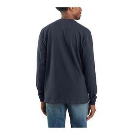 Carhartt Workwear K231-CRHREGLA T-Shirt, L, Regular, Cotton, Carbon Heather, Carhartt Signature Logo Print/Pattern