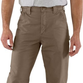 Carhartt B151-LBR30 34A Canvas Dungaree Pant, 34 in Waist, 30 in L Inseam, Light Brown, Loose Fit