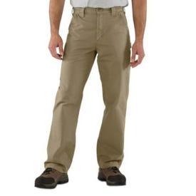 Carhartt B151-LBR32 36A Canvas Dungaree Pant, 36 in Waist, 32 in L Inseam, Light Brown, Loose Fit