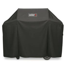 Weber 7130 Grill Cover, 25 in W, 44-1/2 in H, Polyester, Black
