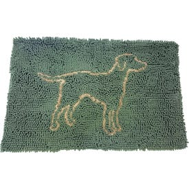 Spot Clean Paws 50044 Dog Mat, 31 in L, 20 in W, Microfiber Cover, Sage, Hang Dry, Machine Washable