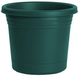 RUGG AR6-FG Planter, 6 in Dia, Round, Polyresin, Forest Green