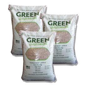 Green Supreme Blended Wood Pellets, 1 Ton