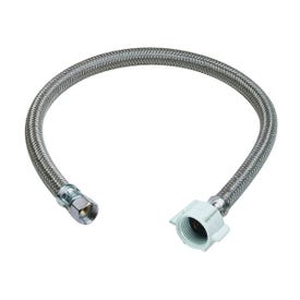 BrassCraft PSB857 Toilet Connector, 3/8 in Inlet, Compression Inlet, 7/8 in Outlet, Ballcock Outlet, 20 in L