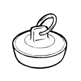 Plumb Pak Duo Fit PP820-39 Drain Stopper, Rubber, White, For: 1-3/8 in to 1-1/2 in Sink