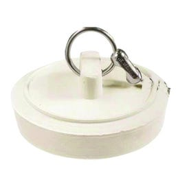 Plumb Pak Duo Fit PP820-1 Drain Stopper, Rubber, White, For: 1-1/8 to 1-1/4 in Sink