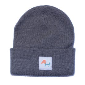 Knit Watch Hat with AH Logo Gray