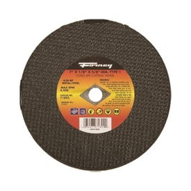 Forney 71892 Cut-Off Wheel, 7 in Dia, 1/8 in Thick, 5/8 in Arbor, 24 Grit, Coarse, Aluminum Oxide Abrasive