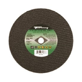 Forney 71893 Cut-Off Wheel, 7 in Dia, 1/8 in Thick, 5/8 in Arbor, 24 Grit, Coarse, Silicone Carbide Abrasive