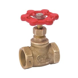 Smith-Cooper 132L Series 0190132GL Straight Stop, 1/2 in Connection, Threaded, Brass Body