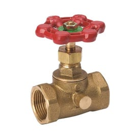 Smith-Cooper 136L Series 0190136IL Straight Stop, 3/4 in Connection, Threaded, Brass Body