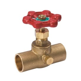 Smith-Cooper 146L Series 0190146GL Straight Stop, 1/2 in Connection, Sweat, Brass Body
