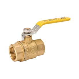 B & K 107-823NL Ball Valve, 1/2 in FPT x FPT, 2 Ports/Ways, Brass