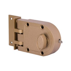 Powerzone 6296404-PS Jimmy-Proof Door Lock, Keyed Different Key, 1-Cylinder, Brass