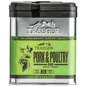 Traeger SPC171 Pork and Poultry Rub, Apple, Honey Flavor, 9.25 oz Tin