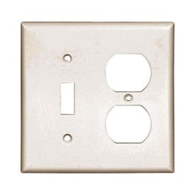 Eaton Wiring Devices 2138W-BOX Wallplate, 4-1/2 in L, 4-9/16 in W, 2-Gang, Thermoset, White, High-Gloss