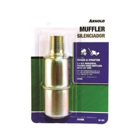 ARNOLD M-105 Small Engine Muffler, 1/2 in Inlet, For: 2 to 4 hp Briggs & Stratton, Tecumseh and Clinton Engines