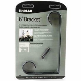 HoldAll 85814 Plant Bracket, Metal, Black, Powder-Coated