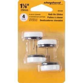 Shepherd Hardware 9448 Furniture Glide, Plastic, White