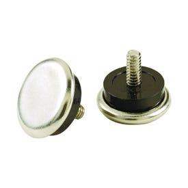 Shepherd Hardware 9449 Furniture Glide with Threaded Stem, Silver, Metal/Rubber