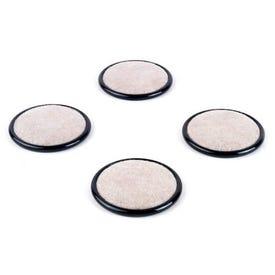 MAGIC SLIDERS 30916 Caster Cup, Round, Plastic, Beige/Black, 2-1/2 in Dimensions