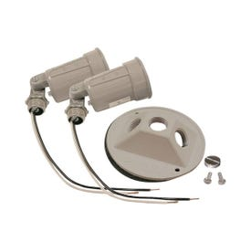 HUBBELL 5625-5 Lamp Holder, 120 V, 75 to 150 W, Gray