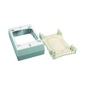 Legrand Wiremold NM Series NM3 Outlet Box, 1-Gang, 0-Knockout, Plastic, Ivory, Wall Mounting