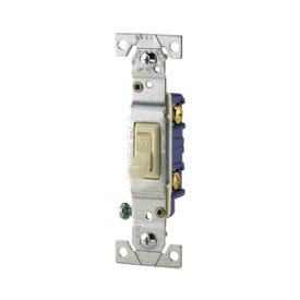 Eaton Wiring Devices 1301-7V Toggle Switch, 120 V, Wall Mounting, Polycarbonate, Ivory