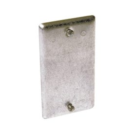 RACO 860 Handy Box Cover, 0.49 in L, 2.313 in W, 1-Gang, Steel, Gray, Galvanized