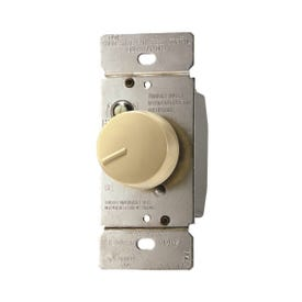 Eaton Wiring Devices RFS5-V-K Rotary Control Switch, 5 A, 120 V, Rotary Actuator, Polycarbonate, Ivory