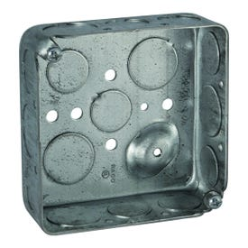 RACO 8192 Switch Box, 2-Gang, 16-Knockout, 1/2, 3/4 in Knockout, Steel, Galvanized, Screw Mounting