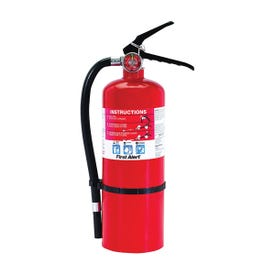 FIRST ALERT PRO5 Fire Extinguisher, 5 lb Capacity, Monoammonium Phosphate, 3-A:40-B:C Class, Wall Mounting