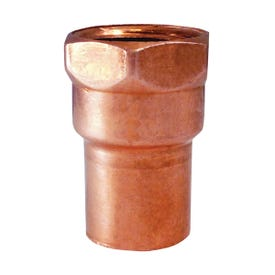 EPC 103 Series 30130 Pipe Adapter, 1/2 in, Sweat x FNPT, Copper