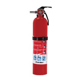 FIRST ALERT HOME1 Fire Extinguisher, Mono Ammonium Phosphate Extinguish Agent, 2.5 lb Capacity, 1-A:10-B:C Fire Class