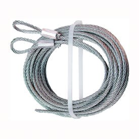 Prime-Line GD 52100 Aircraft Cable, 1/8 in Dia, 12 ft L, Carbon Steel, Galvanized
