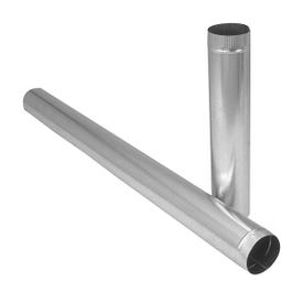 Imperial GV0380 Duct Pipe, 6 in Dia, Round Duct, Galvanized