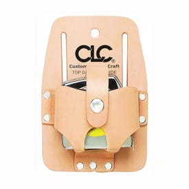 CLC Tool Works 464 Tape Holder, 1 -Pocket, Leather, Tan, 3-1/2 in W, 2-3/4 in H, 1-1/2 in D