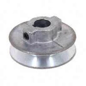 CDCO 250A-5/8 V-Grooved Pulley, 2-1/2 in OD, 2-1/4 in Dia Pitch, 1/2 in W x 11/32 in Thick Belt, Zinc