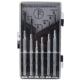 Performance Tool W944S Precision Screwdriver Set, 6 -Piece, Steel, Specifications: Chrome-Plated Handle